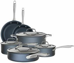Bialetti 7466 Sapphire 10 piece Nonstick Hard Anodized Cookw