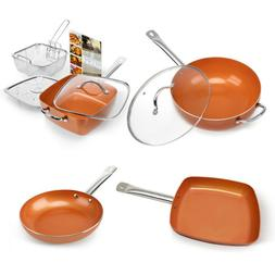 1 Pcs Healthy Non Stick Copper Induction Bottom Frying Pan K