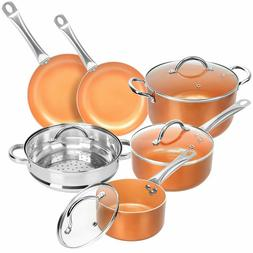 10-Piece Ceramic Coating Infused Copper Induction Nonstick C
