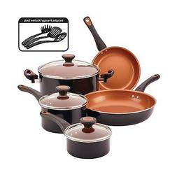 Farberware 10365 Glide Cookware Set 11 Piece Black