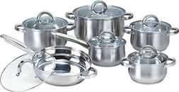 Heim Concept 12-Piece Induction Ready Stainless Steel Cookwa
