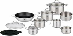 ELO 14 Piece Premium Stainless Steel Induction Cookware Silv