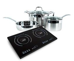 True Induction 2 burner portable cooktop with 5 pc induction
