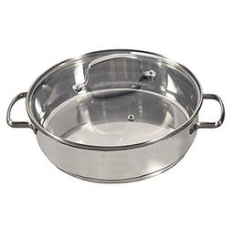 Nuwave 3.5 Quart Stainless Steel Saute Pan with Tempered Gla