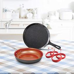 NuWave 31213 Breakfast Bundle Featuring cast Iron Griddle, 4