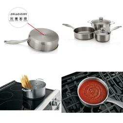 5-Piece Stainless Steel Induction Capable Cookware Set with