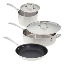 American Kitchen 5 Piece Stainless Steel Induction Cookware