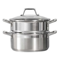 Tramontina 5-quart Stainless Steel Steamer Set, Tempered Gla
