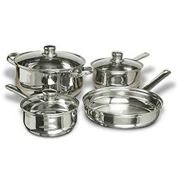 Concord 7-Piece Stainless Steel Cookware Set, includes Pots