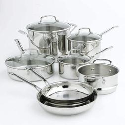 Cuisinart 77-11G Chef's Classic Stainless 11 Piece Cookware