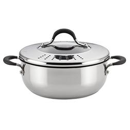 Circulon Momentum Stainless Steel Nonstick 4-Quart Covered C