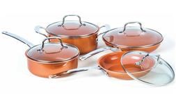 8 piece copper induction ceramic nonstick coating