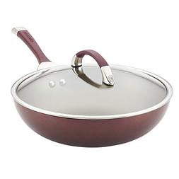 "Circulon 87531 Symmetry Everything Nonstick Pan, 12"", Merlot"