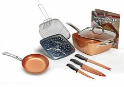 Copper Chef 9pc Set 6 in 1 Non Stick Pans Kitchen Cookware I
