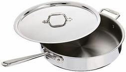 All-Clad 4405 Stainless Steel Tri-ply Saute Pan with Lid Coo