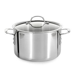 Calphalon  Tri-Ply Stainless Steel 8-Quart Stock Pot with Co