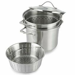 Calphalon Contemporary Stainless Steel Cookware/Multi-Pot, 8