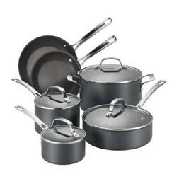 Circulon Genesis Hard-Anodized Nonstick 10-Piece Cookware Se