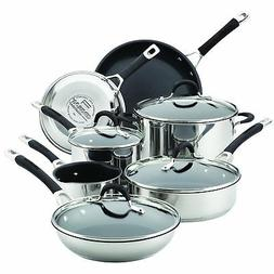 Circulon Momentum Stainless Steel Nonstick 11-Piece Cookware