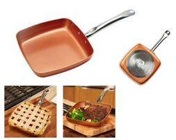 Copper Chef 9.5 Inch Square Frying Pan - Skillet with Ceram