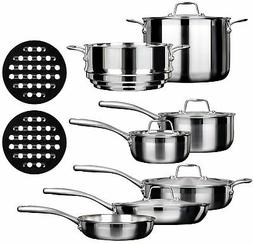 Duxtop SSC-14PC 14 Piece Whole-Clad Tri-Ply Induction Cookwa