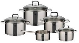Elo Straight Line Stainless Steel 9-Piece Cookware Set with