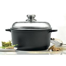"Eurocast Professional Cookware 10"" Stock Pot with Glass Lid"