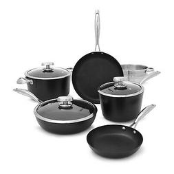 Scanpan PRO IQ 9 Piece Nonstick Cookware Set, Black