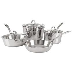 Viking Contemporary 3-Ply Stainless Steel Cookware Set, 7 Pi