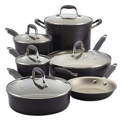Anolon Advanced Pewter Hard Anodized Nonstick 11 Piece Cookw