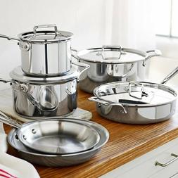 all clad d5 stainless steel 10 piece