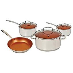 Nuwave Complete Kitchen Pan Pot 7-Piece Cookware Set, Induct