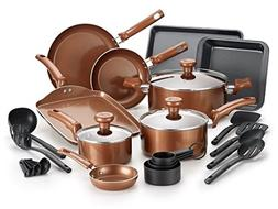 T-fal Copper Ceramic Nonstick Cookware Bakeware Pots and Pan