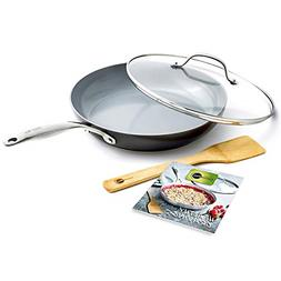 GreenPan CC001875-001 Valencia Pro Cookware Set, 4pc, Grey