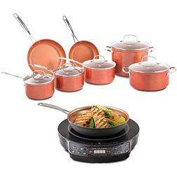 Nuwave 12 pc. Ceramic Cookware Set with Induction Cooker wit
