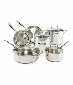 Cuisinart Chef's Classic Stainless Steel 11 Piece Cookware S