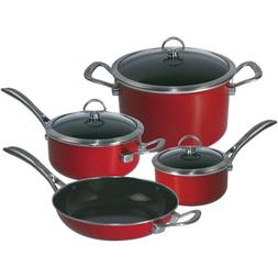 Chantal® 7-pc. Chili Red Enamel with Copper Fusion&trade