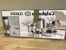 Calphalon Classic Stainless Steel 10-Piece Cookware Set New
