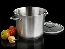 Calphalon Contemporary 12 qt. Stainless Steel Stockpot New
