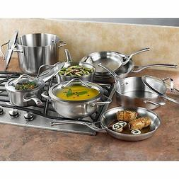 Contemporary 13-Piece Cookware Set Non Porous Stainless Stee
