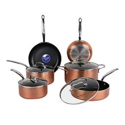 COOKSMARK 10 Piece Cookware Set with Nonstick Coating, Induc