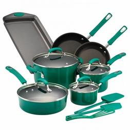 Rachael Ray - 14-piece Cookware Set - Fennel Gradient