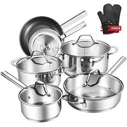 Deik Cookware Set Pots and Pans Sets Nonstick Stainless Stee
