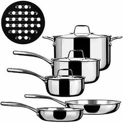 Cookware Sets Duxtop Whole-Clad Tri-Ply Stainless Steel Indu