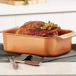 Cooper Chef Roasting Grill Baking Fryer Pan Oven with Lid Se