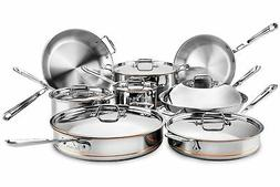 All-Clad Copper Core 14-Pc Cookware Set