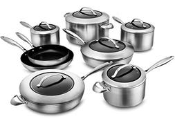 Scanpan CTX 14-piece Stainless Steel Cookware Set with Strat