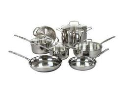 Cuisinart 77-11G 11-Piece Chef's Classic Cookware Set, Stain