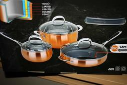 Dell'Arte Luxury Collection Stainless Steel Cookware Set - 6