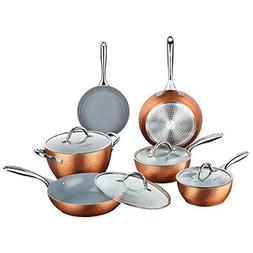 COOKSMARK Diamond Texture Non Stick Induction 10-Piece Cookw